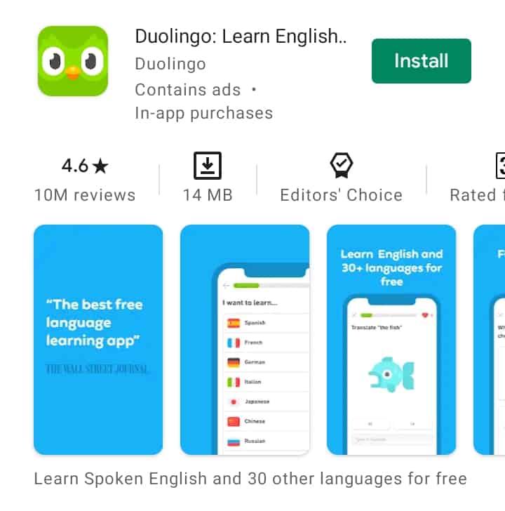 Duolingo: Best learning app for students