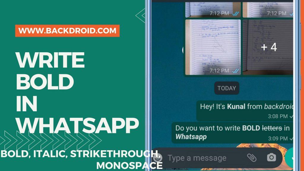 How to write bold in Whatsapp